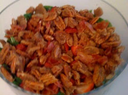 Strawberry Spinach Salad With Praline Pecans! I Recipe