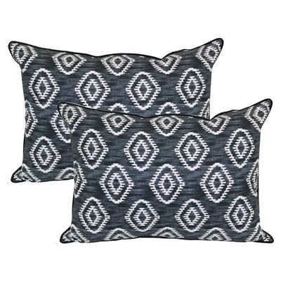 diamond ikat pillows