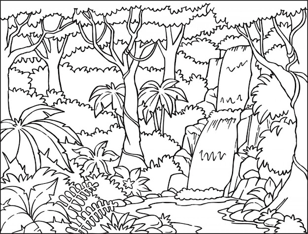 Coloring Is Not Just Fun Activity It Is Also Great Learning Process  For Little Kids Here We Have Presented Some Nature Theme Coloring Pages