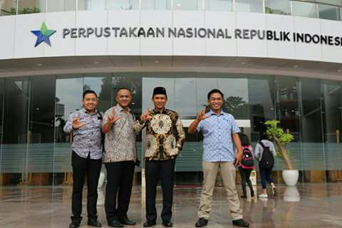 Bupati Lambar kunjungi perpustakaan Nasional Republik Indonesia Nasioanal Republik Indonesia di jakarta
