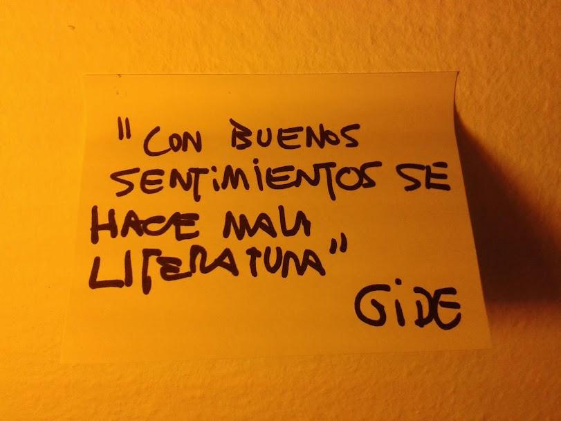 """André Gide: """"Es con los buenos sentimientos con los que se hace mala literatura"""""""