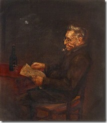 Old Man Seated, with Reading Glasses and Pipe*