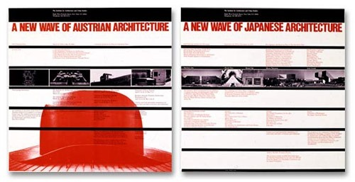 Póster para el IAUS (Institute for Architecture & Urban Studies). New York, 1979-1980