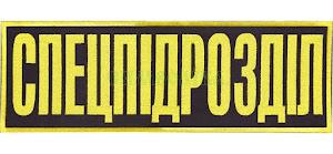 Спецпідрозділ 300х10мм/напис на спину/вишитий/чорно-жовтий
