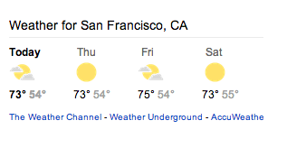 Google News Weather