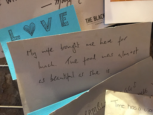 Very sweet gesture on a card