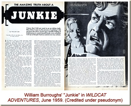 WILDCAT ADVENTURES June 1959, William Burroughs Junkie as William Lee