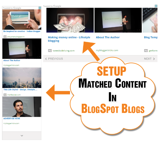 Setup Adsense Matched Content Unit in BlogSpot blogs