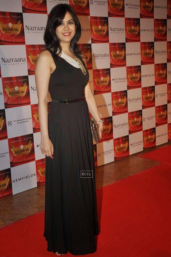 Neha Lulla during the 10th Annual Gemfields and Nazraana Retail Jeweller India Awards, 2014, in Mumbai, on July 19, 2014. (Pic: Viral Bhayani)