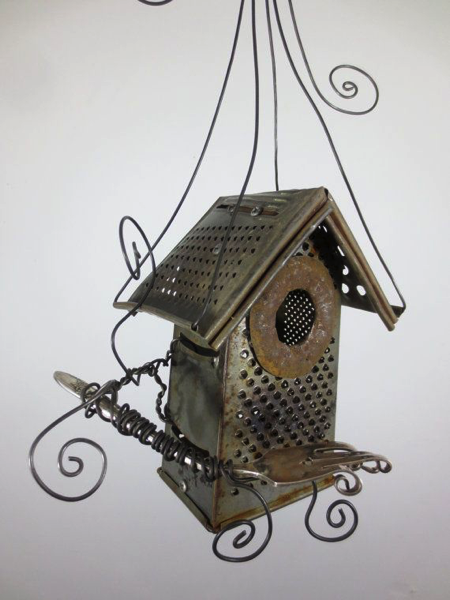 Bird House from Cheese Grater