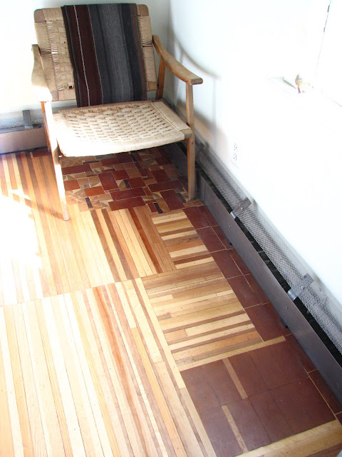 The floor is handmade by Emil.  I would have no idea where to start.