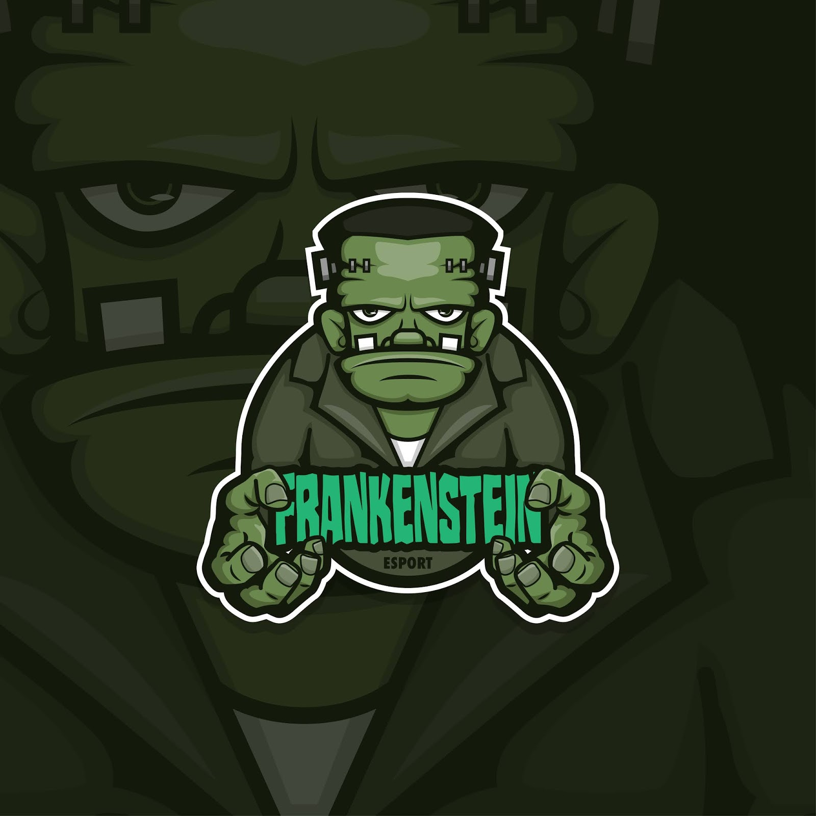 Esport Gamer Logo Frankenstein Free Download Vector CDR, AI, EPS and PNG Formats