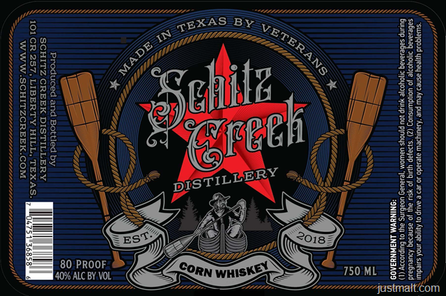 Schitz Creek Distillery Corn Whiskey