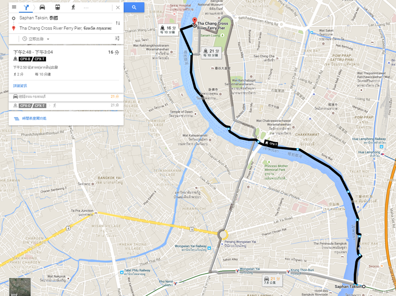 FireShot Capture - Saphan Taksin, 泰國 至 Tha Chang Cross Riv_ - https___www.google.com.tw_maps_dir_S