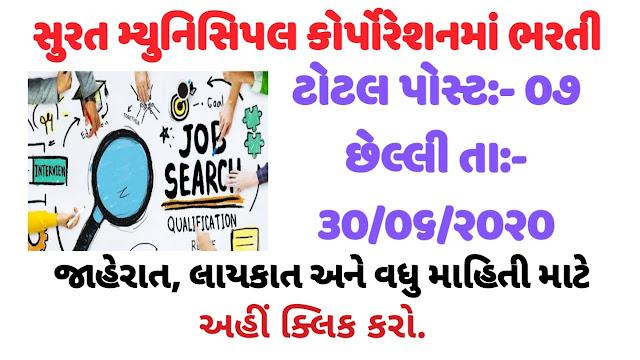 Surat Municipal Corporation (SMC) Recruitment for Resident Medical Officer & Jr. Medical Officer Post 2020