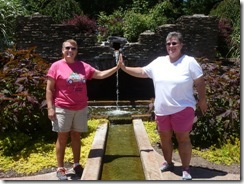 Syl and Gin at the Sunken Gardens