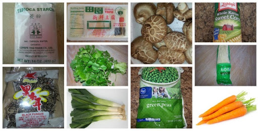Soup nấm chay ingredients