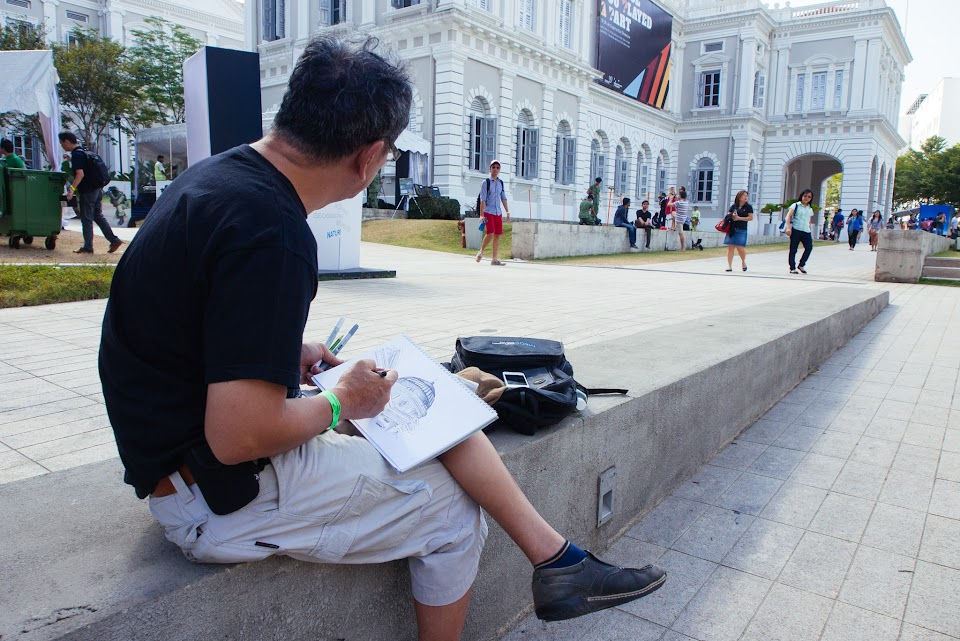 Sketchwalk at National Museum of Singapore (22 Feb 2014)