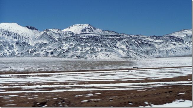 neve a caminho do Salar de Tara