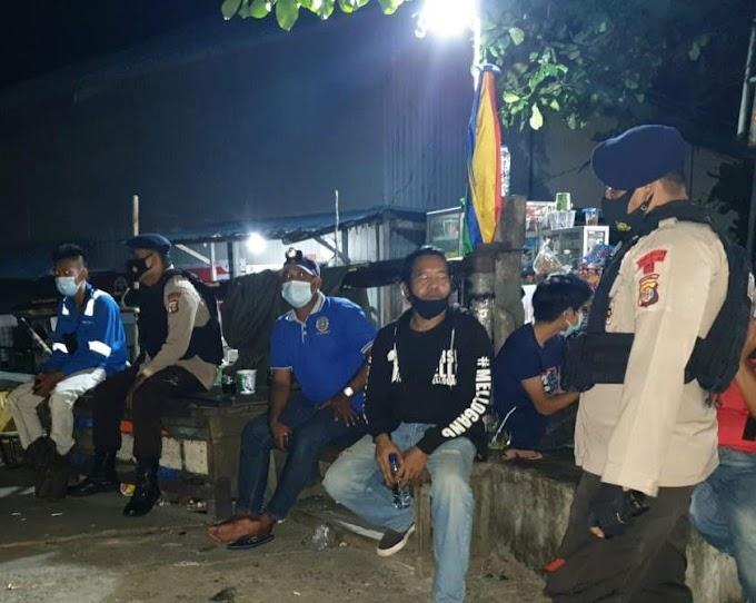 Ciptakan Situasi Aman Dan Kondusif Brimob Polda Kaltim Patroli Sambang Pelabuhan Semayang