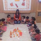 Orange Day Celebration by Nursery Evening Section at Witty Kids, Chikoowadi (2018-19)