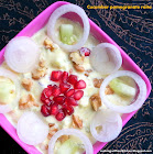 Cucumber pomegranate  in yoghurt dressing(raita)