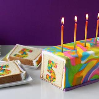 Rainbow Tie-Dye Surprise Cake.