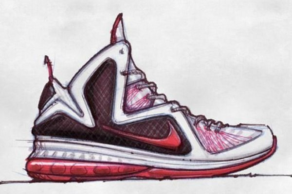 nike lebron 9 design sketches by jason petrie nike