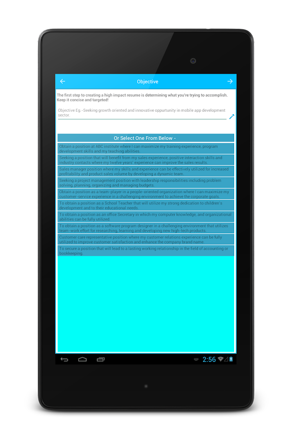 resume builder screenshot - Resume Builder App