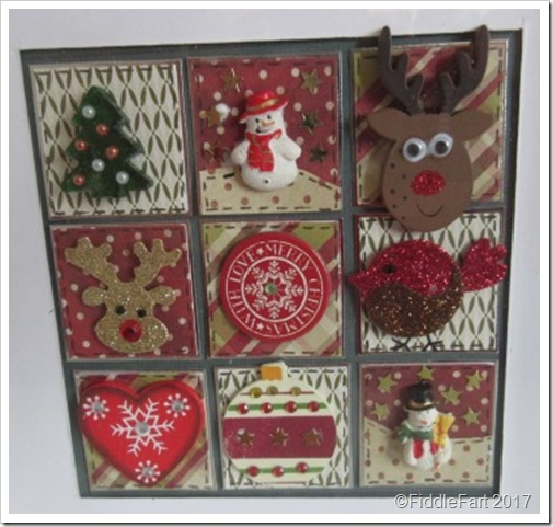 2 Christmas Patchwork Box Frame c