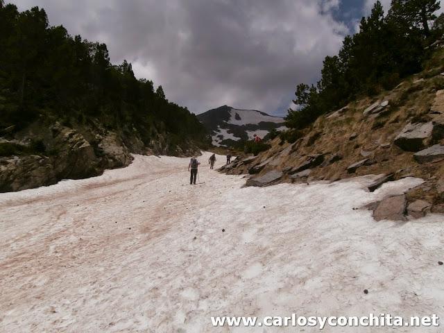 Hemos tenido que caminar por nieve bastantes tramos