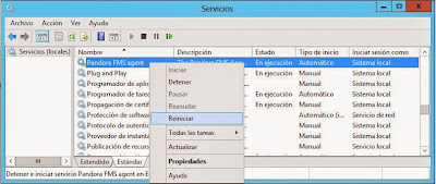 Instalar agente de software Pandora FMS en host con Windows Server 2012