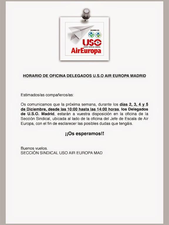 Secci n sindical uso air europa horario de oficina uso - Oficinas de air europa ...