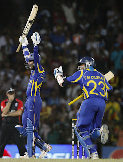 Upul Tharanga passed his hundred with the emphatic boundary as he and Tillakaratne Dilshan sealed an blistering triumph, Sri Lanka vs England, 4th Quarter-Final, ICC Cricket World Cup 2011, Colombo, March 26 2011
