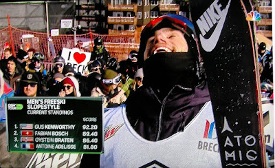 Skier Gus Kenworthy comes out as gay and celebrates winning the 2015 Dew Tour on NBC TV
