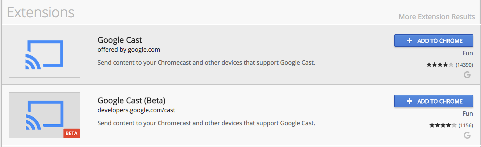 chrome google cast extension