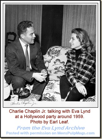 Charlie Chaplin Jr & Eva Lynd, c1959, Earl Leaf photo