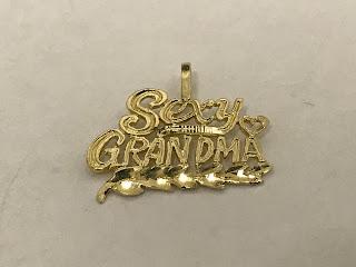 "14K Gold ""Sexy Grandma"" Pendant"
