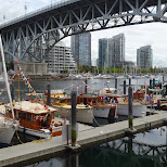 yacht harbor at Granville Island in Vancouver, British Columbia, Canada