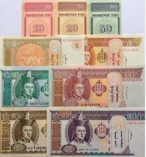 Mata uang tugrik Mongolia dari sejarah, simbol, gambar, dan kurs