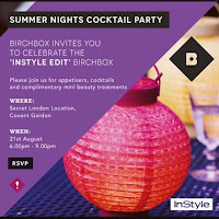 Birchbox Instyle Summer Nights Cocktail Party Invite