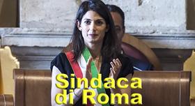 Il sindaco di Roma Virginia Raggi durante la prima riunione della nuova Assemblea Capitolina in Campidoglio, Roma, 07 luglio 2016. ANSA/ANGELO CARCONI