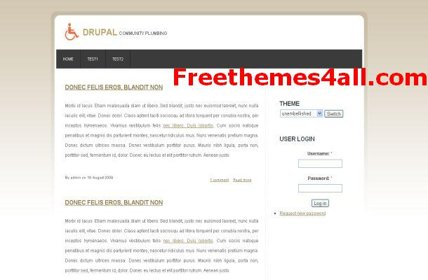 Free Drupal 6 Theme - Business Template