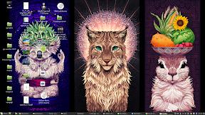 Ubuntu Animal Wallpapers by Sylvia Ritter para Ubuntu y derivados. Ejemplo.