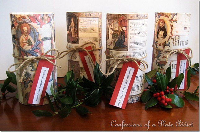 CONFESSIONS OF A PLATE ADDICT Sheet Music Candles