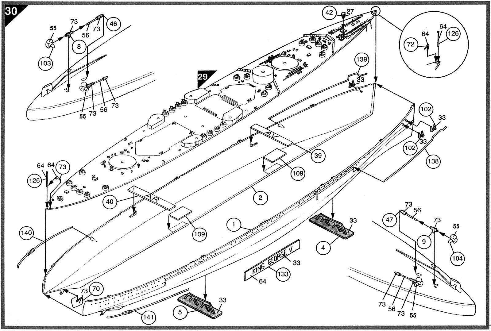 Airfix 1 400 Hms King George V A