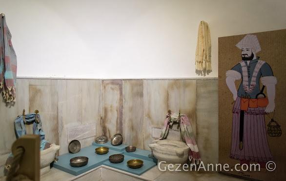 Beypazarı hamam müzesinin içi