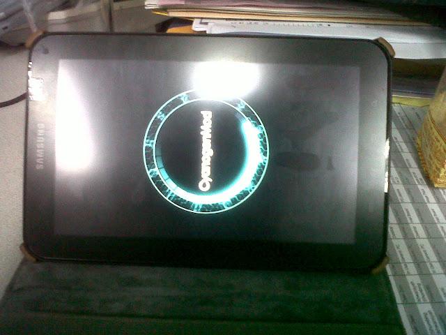 proses update CyanogenMod 10 di galaxy tab p1000