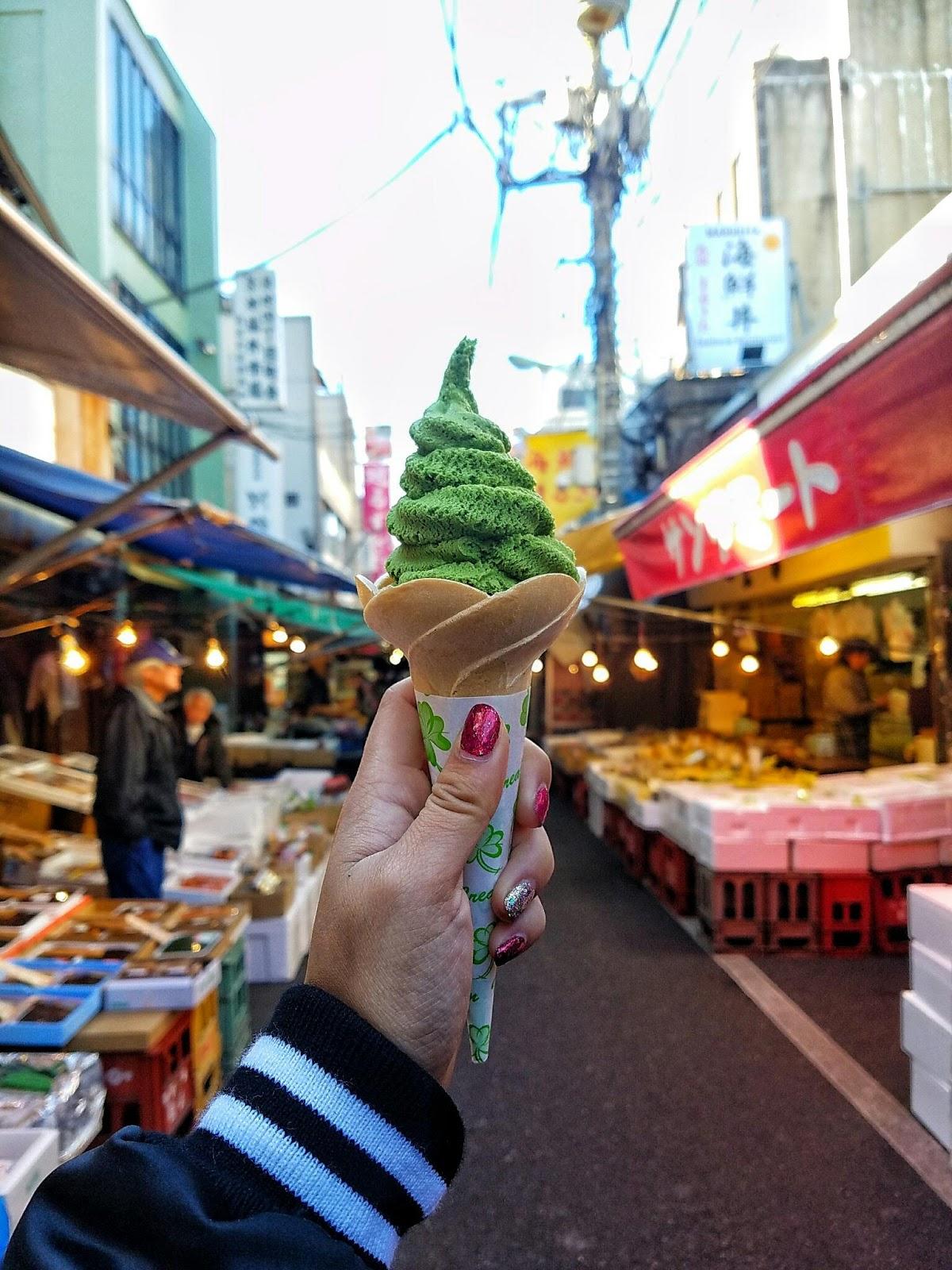 green tea ice cream japan tokyo