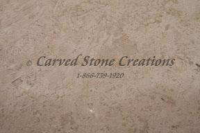 carved stone, Interior, Samples, travertine